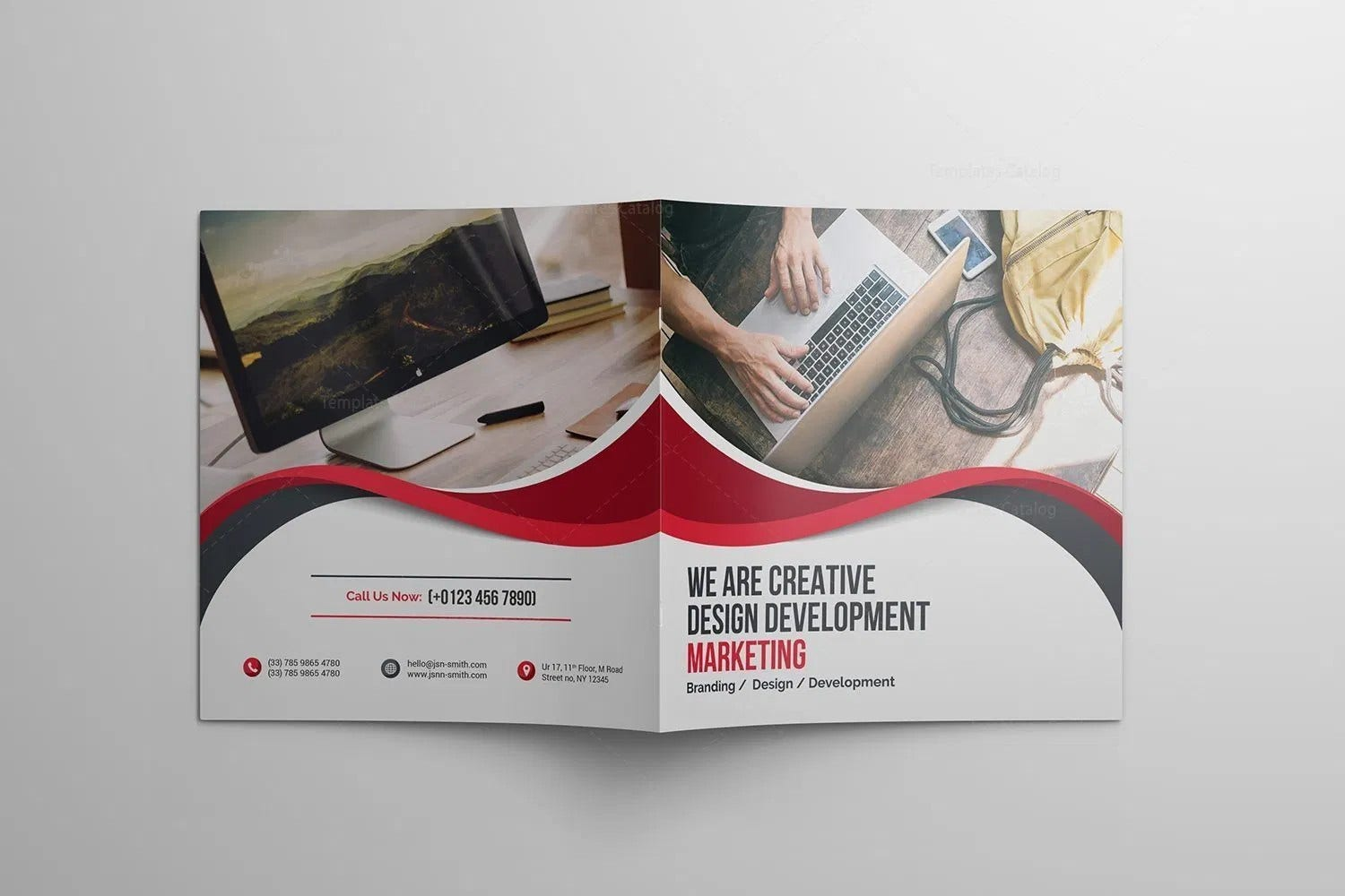 technology company brochure template