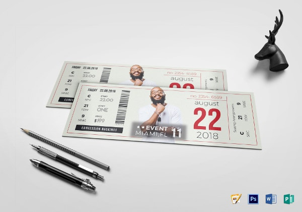unique event ticket template2