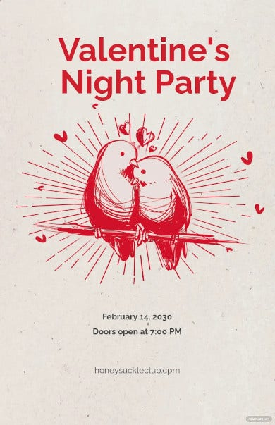 valentines day party poster1