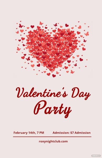 valentines day poster template1
