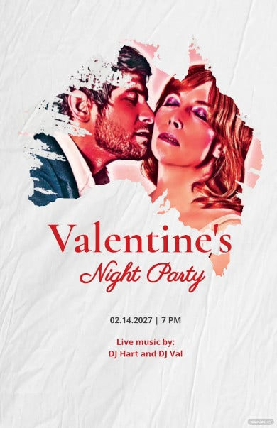 valentines night party poster