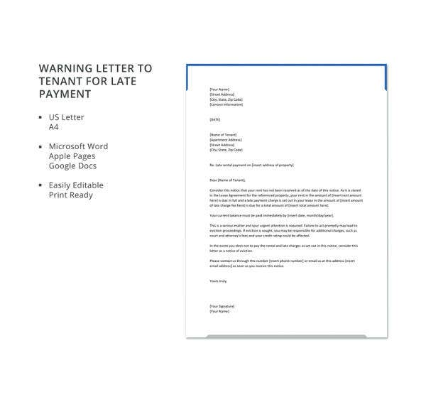 warning letter to tenant for late payment1
