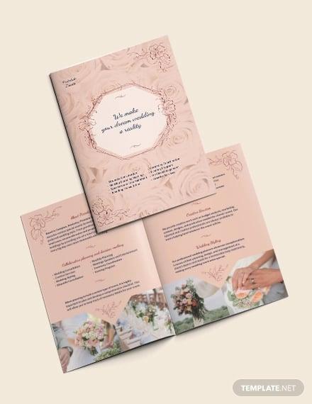 wedding event planner bi fold brochure template1