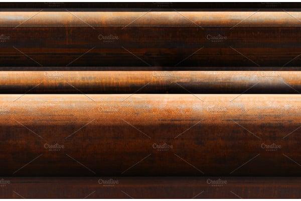 horizontal seamless pattern of rusty