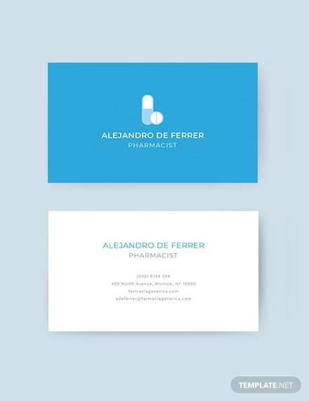 pharmacist business card