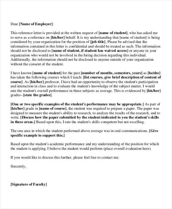 example letter of recommendation for faculty position
