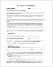 real-estate-sales-contract-template