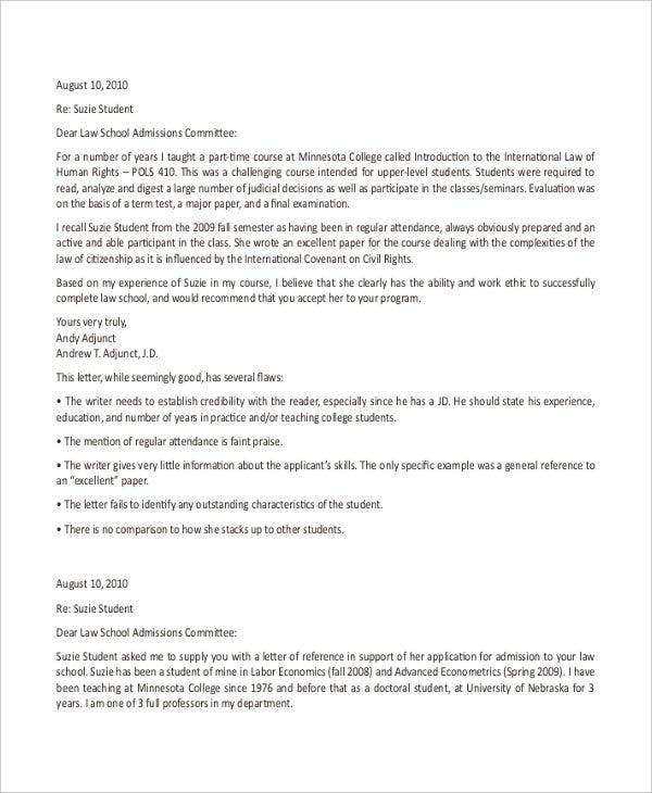 40 recommendation letter templates in pdf free for Letter of recommendation template for college admission