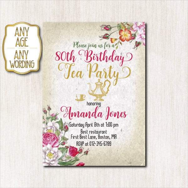 31 examples of birthday invitation designs psd ai free
