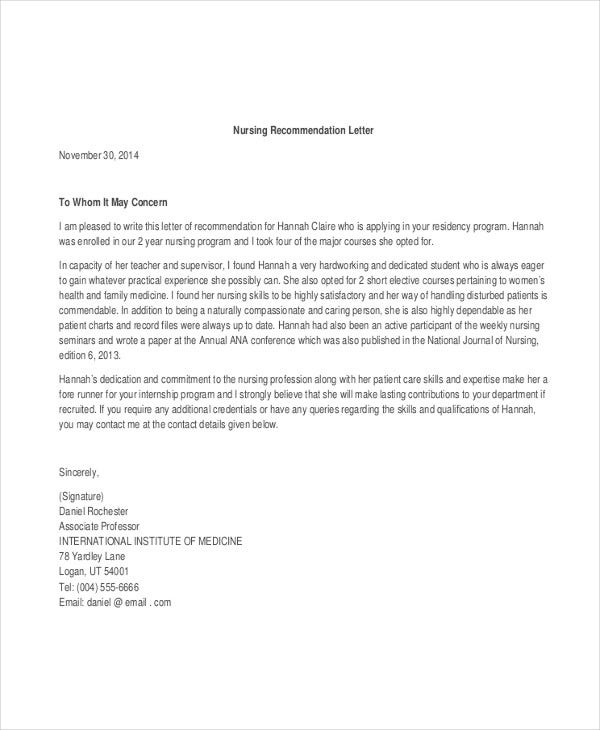 36  recommendation letter templates in pdf