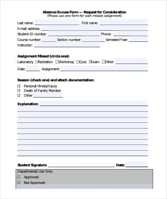 Free Student Doctors Note Template PDF Format  Free Printable Doctor Forms