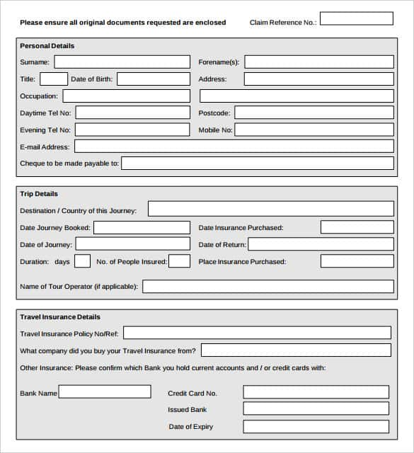 Sample Doctors Note For Travel Claim Cancellation Form Printable  Note Payable Form