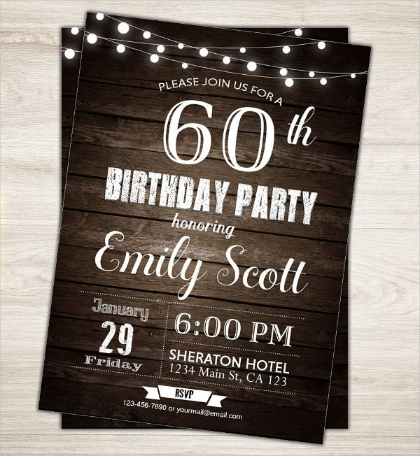 60th surprise birthday invitation
