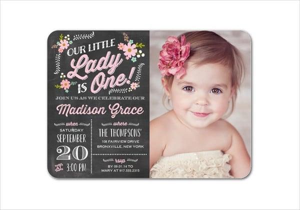 Baby Birthday Party Invitation