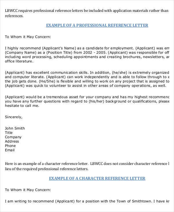 37  simple recommendation letter template