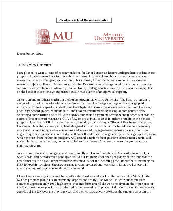 Professional reference letter sample graduate school sample reference letter for graduate school from a friend expocarfo Images