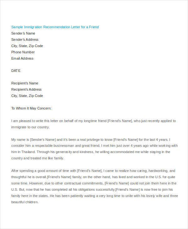 36  simple recommendation letter templates
