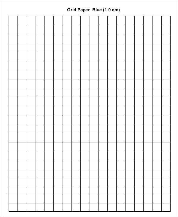 Printable Blue Grid Paper Template