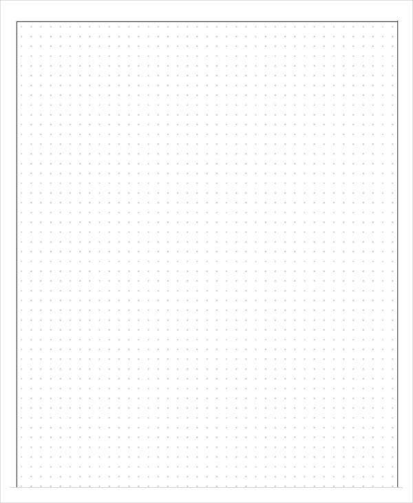 photograph about Free Printable Dot Grid Paper identified as Printable Grid Paper Template - 12+ Totally free PDF Data files