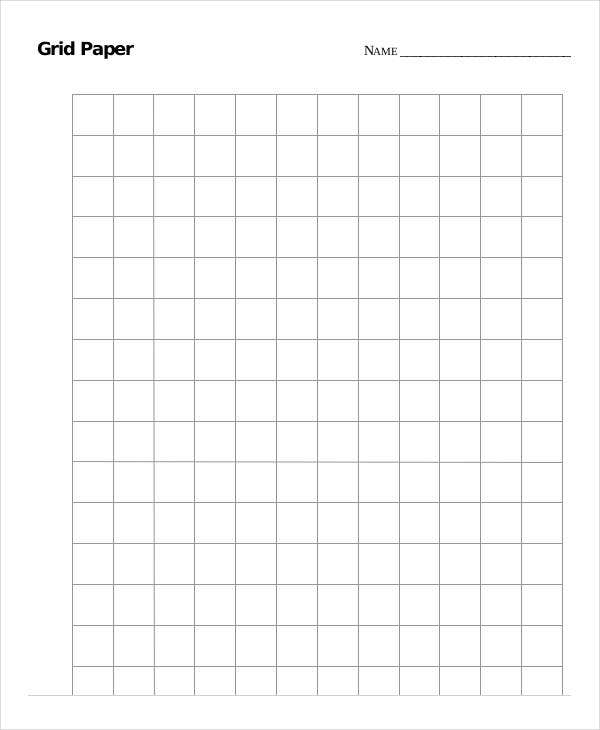 Printable Grid Paper Template 12 Free PDF Documents Download – Grid Paper Template