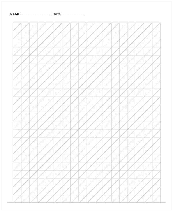 Printable Diagonal Grid Paper