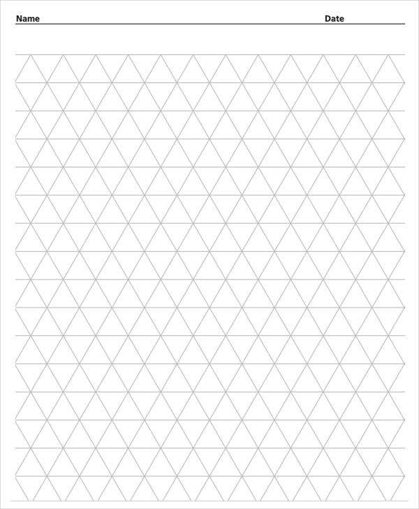 printable triangular grid paper