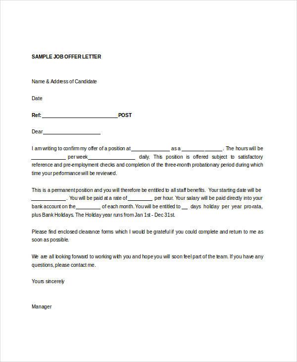 Job letter sample doc application for employment letter format gallery letter spiritdancerdesigns Image collections