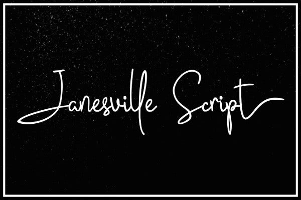 Janesville Script Font