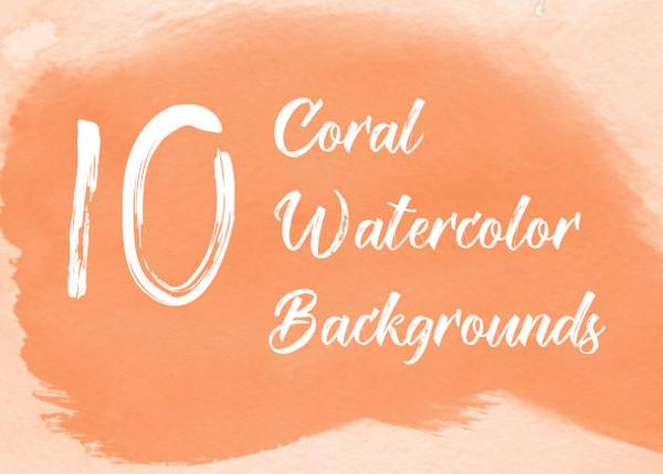 Coral Watercolor Texture