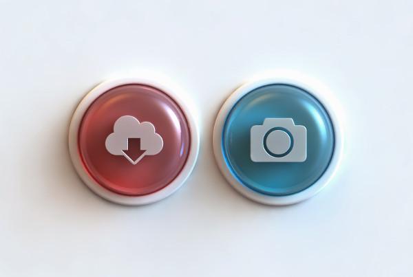Glass Buttons Interface