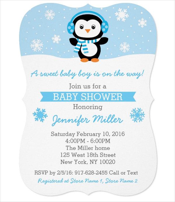 snowflake-die-cut-baby-shower-invitation