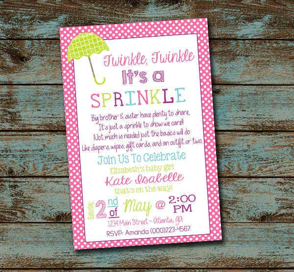 50 unique baby shower invitations free premium templates sprinkle girl baby shower invitation filmwisefo Choice Image