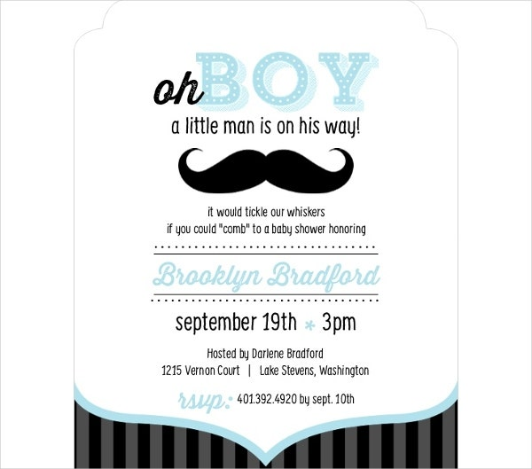 53 Unique Baby Shower Invitations Free Premium Templates