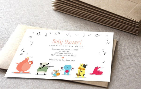 handmade funny baby shower invitation