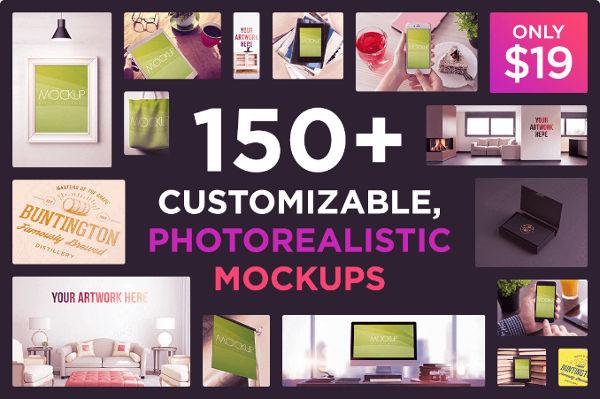 Customizable Photo-realistic Mock-ups
