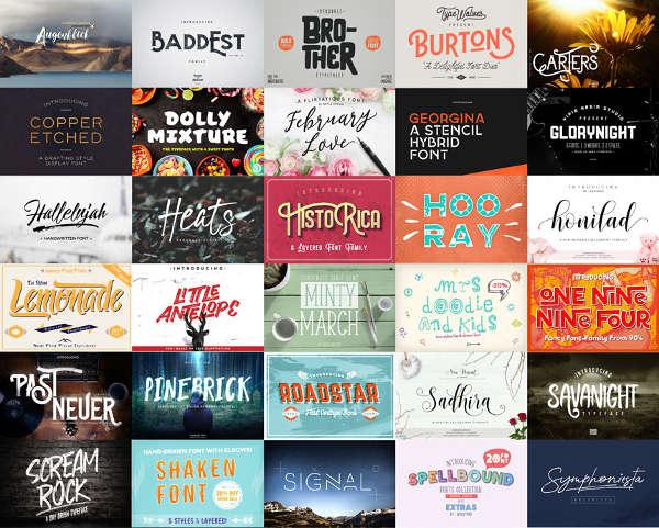 43 Stylish Fonts for Designer