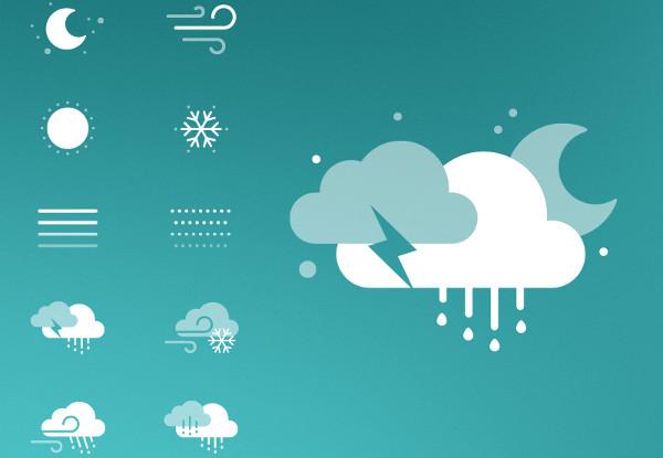 Seamless Weather icon kit