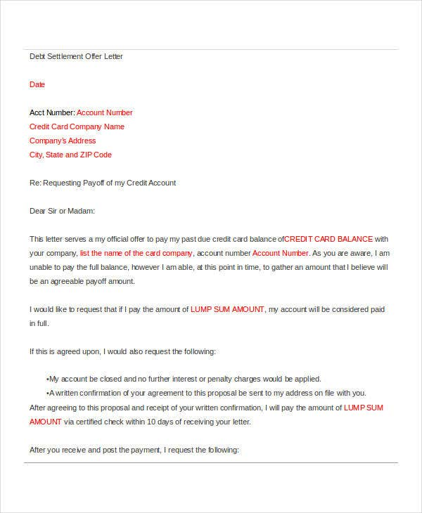 full and final settlement offer letter template - full and final settlement offer letter template gallery