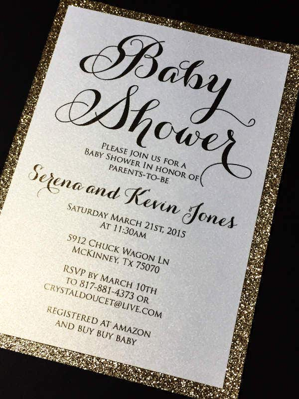 Sample Cut Baby Shower Invitation
