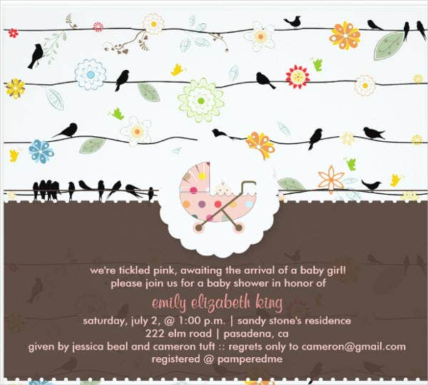 diy baby shower invitation card1