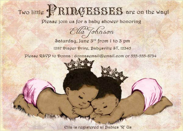 diy princess baby shower invitation1