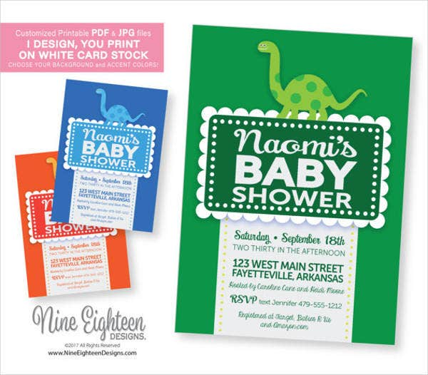 dinosaur-theme-baby-boy-shower-invitation