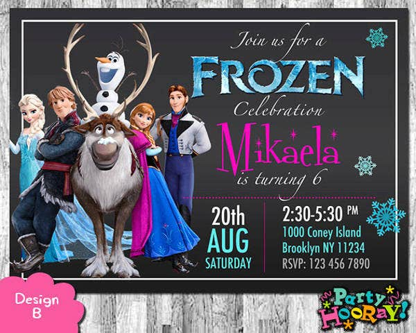 Printable Frozen Birthday Invitation