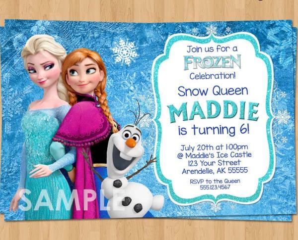 Frozen Birthday Party Invitation