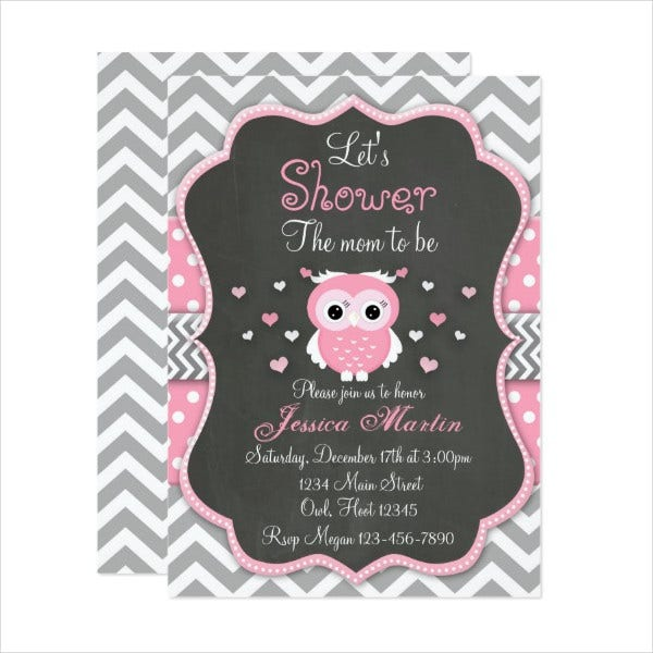 printable owl baby shower invitation
