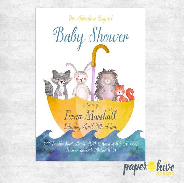 modern gender neutral baby shower invitation