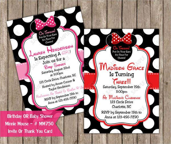 mickey mouse clubhouse baby shower invitation