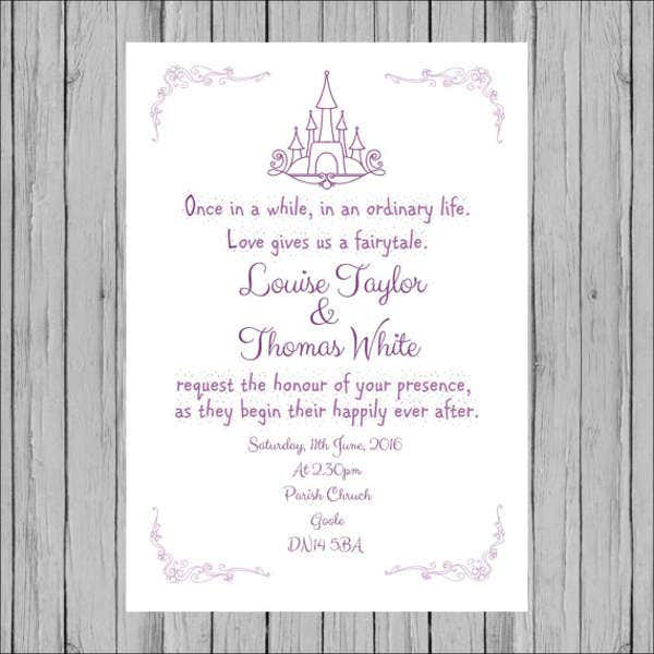 Beau Cinderella Fairytale Wedding Invitations
