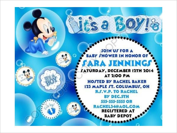 41baby shower invitations free psd vector ai eps format download disney mickey mouse baby shower invitation filmwisefo