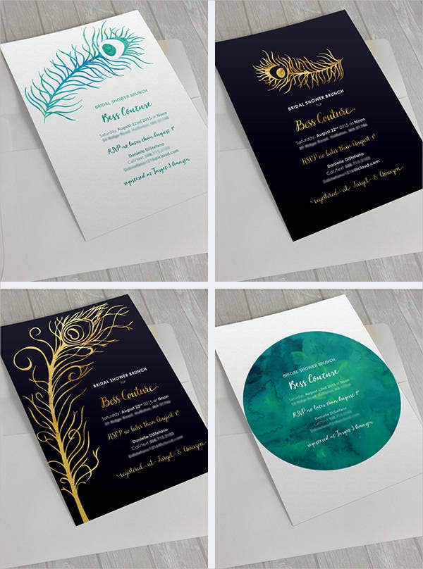 formal peacock wedding invitations